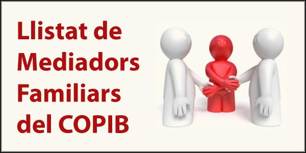Llistat de mediadors familiars del COPIB