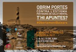 Obrint portes contra l'estigma per raons de salut mentaL. Primera formació d'activistes d'Obertament Balears a Menorca