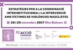 Jornada «Estratègies per a la coordinació interinstitucional i la intervenció amb víctimes de violències masclistes»
