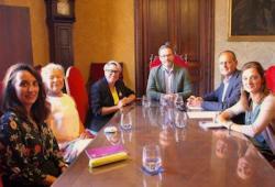 Representants de la Junta de Govern del COPIB es reuneixen amb el batle de Palma