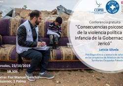 """CONFERÈNCIA GRATUÏTA: """"Conseqüències psicosocials de la violència política a la infància de la Governació de Jericó"""""""