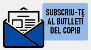 Subscriu-te al Butlletí del COPIB